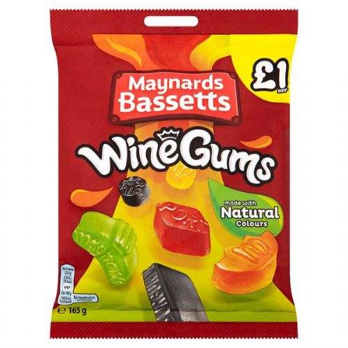 Maynards Bassetts Wine Gums £1 Sweets Bag 165g (UK)